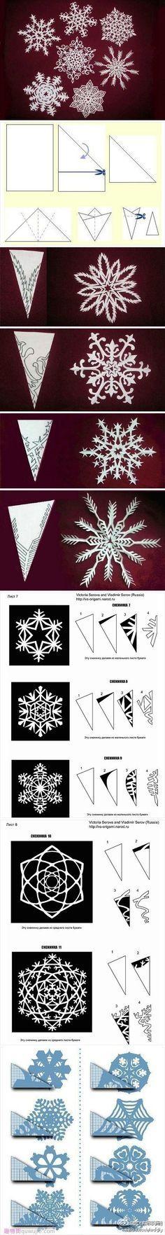 Paper snow flakes tutorial