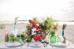 Seashore & Succulent Tablescape Inspiration By Christy Hulsey