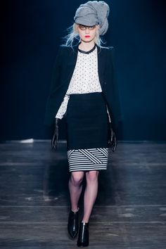 Band of Outsiders Fall 2013 Ready-to-Wear Fashion Show - Steffi Soede