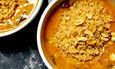 Sweet Potato and Cauliflower Peanut Stew Quick Recipes, Whole Food Recipes, Sweet Potato Soup, Hot Soup, Vegan Kitchen, Whole Grain Bread, Natural Peanut Butter, Vegan Soup, Plant Based Recipes