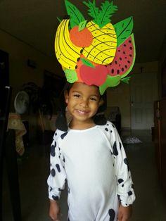 DIY fruit hat with foami♥♥♥