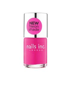 """Thea Green's popular London-based brand, Nails Inc., just launched at Sephora. Like Lippmann, she favors a pinkish hue for nails, only punchier. """"Try Notting Hill Gate,"""" she says. """"It's a neon-pink shade that's super-flattering on fair skin types."""""""