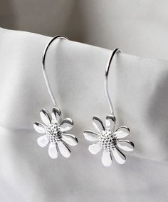 Look at this Sterling Silver Contemporary Daisy Drop Earrings on #zulily today!