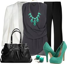 """A Touch of Turquoise"" by qtpiekelso on Polyvore"