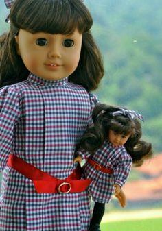 Mini doll and doll how cute ~American girl fan