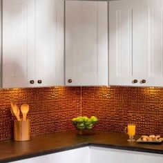 Fasade 18 in. Smoked Pewter J-Trim - The Home Depot Backsplash Panels, Vinyl Trim, Tile Trim, Decorative Wall Panels, Corner Wall, Ceiling Panels, Farmhouse Kitchen Decor, Pewter, Kitchen Cabinets