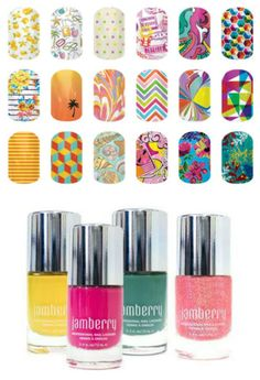 Poolside Glow Lacquer sets and wraps!  Check them out at www.bkimball.jamberrynails.net or just click on the picture!