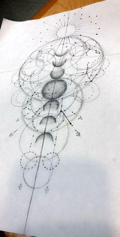 Fun Geometric Galaxy with family astrological constellations. - Nilam Kostava - Fun Geometric Galaxy with family astrological constellations. Fun Geometric Galaxy with family astrological constellations. Trendy Tattoos, New Tattoos, Body Art Tattoos, Small Tattoos, Cool Tattoos, Family Tattoos, Tatoos, Flower Tattoos, Sleeve Tattoos