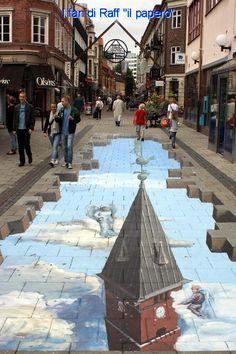 Street art Helsingborg by : Street painting Helsingborg by 3d Street Art, Amazing Street Art, Street Art Graffiti, Street Artists, Amazing Art, Awesome, Helsingborg, Trompe L Oeil Art, 3d Sidewalk Art
