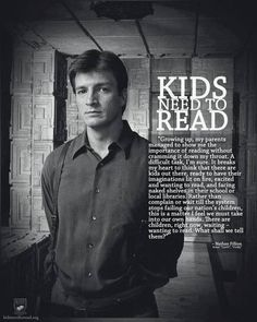 Be still my fluttering heart! he wants to show people the importance of reading to children! *swoon* Nathan Fillion on kids reading - Nathan Fillion talking about the importance of reading for kids and the imagination. I Love Books, Good Books, Books To Read, Free Books, This Is Your Life, Way Of Life, Kids Reading, Love Reading, Reading Books