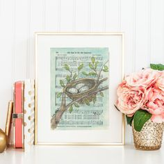 His Eye is On The Sparrow  Hymn  Watercolor painting by NearToHymn
