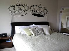 King and Queen Crown wall decal by FASTDESIGNS on Etsy, $15.00