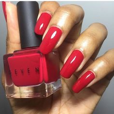 HBIC swatched by the lovely this red looks lovely on your skin tone thank you for sharing your experience Skin Tone, Your Skin, Nail Polish, Nails, Red, Beauty, Beleza, Ongles, Finger Nails