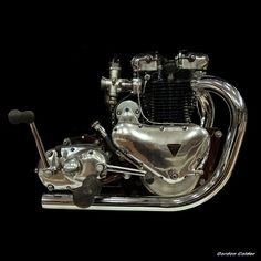 No 120: CLASSIC 1938 500cc TRIUMPH SPEED TWIN ENGINE   Flickr - Photo Sharing!