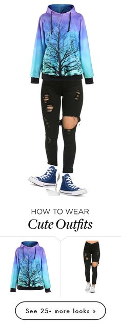 """""""Cute school outfit"""" by vmcomito on Polyvore featuring Converse and converse"""