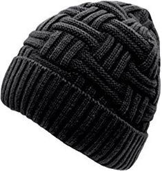 Loritta Men's Winter Knitting Skull Cap Wool Warm Slouchy Beanie Hat