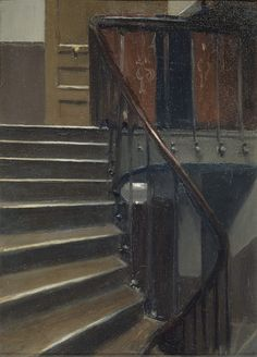 Edward Hopper - Stairway at 48 rue de Lille Paris 1906