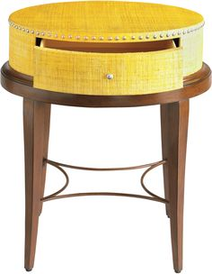 HGTV Home 6D14-H691 Accents Yellow Raffia Accent Table | Ottawa BrandSource Home Furnishings, Ottawa Ontario