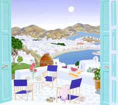 Mykonos Terrace | Thomas McKnight Gallery, the Official Website