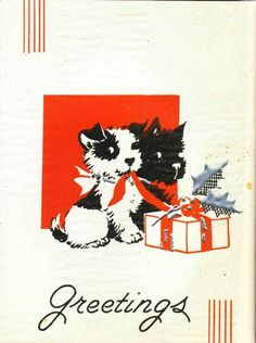 Scotties with gift