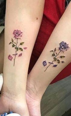 Rose Tattoos On Wrist, Rose Tattoos For Women, Dainty Tattoos, Family Tattoos, Sister Tattoos, Friend Tattoos, Pretty Tattoos, Mini Tattoos, Cute Tattoos