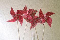 Wedding deocr 12 Mini Pinwheels Rustic Romance (Custom orders welcomed)