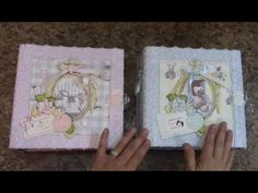 PART 3 TUTORIAL 8 X 8 BABY ALBUM BOY OR GIRL DESIGNS BY SHELLIE - YouTube