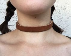Light Brown Leather Choker by OchoByTatiana on Etsy https://www.etsy.com/listing/294638331/light-brown-leather-choker