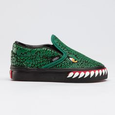 holy crap. i need a baby! // VANS toddler T-Rex slip ons