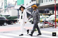 Shinsaku Masuda and Poggy Mutofumi during Mercedes Benz Fashion Week Tokyo Spring Summer 2016.