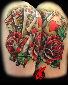 Alice Wonderland Cards Roses Tattoo  Jackie Rabbit by jackierabbit12