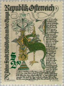 Sello Front Page Of The Waidhofen City Chronicle 14th Cty Austria Waidhofen Mi At 1658 Sn At 1167 Yt At 1486 Afa Postage Stamp Art Stamp Postage Stamps