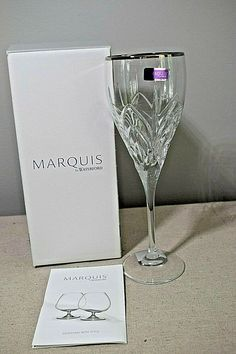 240e907da06e Waterford Marquis Caprice Platinum Red Wine Crystal Glass New in Box   108975  Waterford