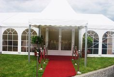 PVC Double glazed door and red carpet entrance to make a special entrance Wedding Marquee Hire, Cork Wedding, Marvel Wedding, Ladies Day, Luxury Wedding, Gazebo, Entrance, Backdrops, This Is Us