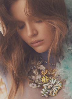 Josephine Skriver readies for her closeup on the April 2018 cover of Numero Tokyo. Lensed by Zoey Grossman, the Danish stunner wears a feather embellished