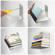 """Conceal Book Shelf"" created by the designer Miron Lior  - 20 Original and out of the ordinary bookcases"