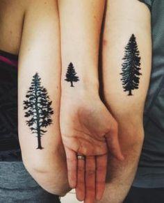 Various tree sibling tattoos via Zoe Shalom