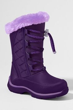 Purple Landsend Girl's Snowflake Boot