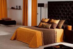 Fotos de quartos de casal em cor laranja