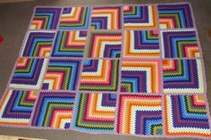Granny Square Decke  von SilKath auf DaWanda.com
