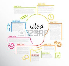 Find Vector Idea Infographic Template Made Lines stock images in HD and millions of other royalty-free stock photos, illustrations and vectors in the Shutterstock collection. Presentation Design Template, Powerpoint Presentation Templates, Design Mind Map, Mind Maping, Creative Mind Map, Flow Chart Design, Plakat Design, Self Branding, Good Notes