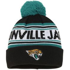 Jacksonville Jaguars Toddler Cuffed Knit Hat With Pom – Teal