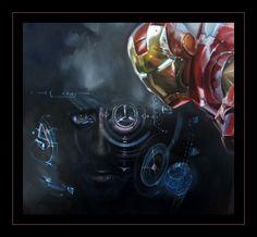 """""""IRON MAN"""" oil on canvas 90X60cm fragment aut. Katarzyna Waszewska"""