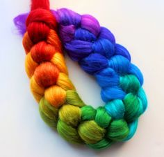 Spinning Fiber Roving Hand Painted and so pretty!