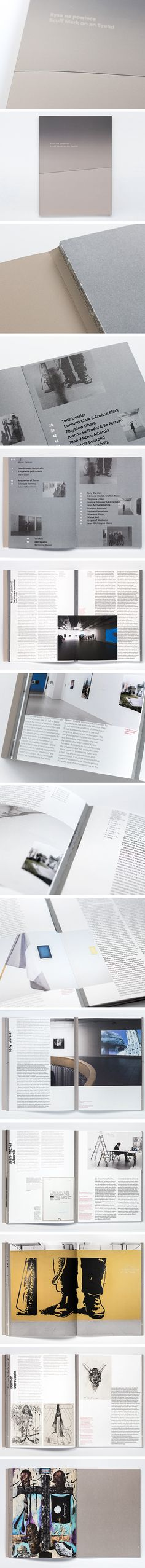 Book design made by Kasia Goczol fo BWA Contemporary Art Gallery in Katowice, PL. 'Scuff Mark on an Eyelid' (Rysa na powiece) — a catalogue summary of the exibition.