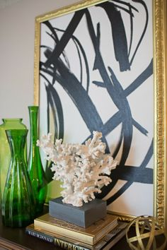 Simple painting that one could DIY // Amanda Carol Interiors featured on 6th Street Design School