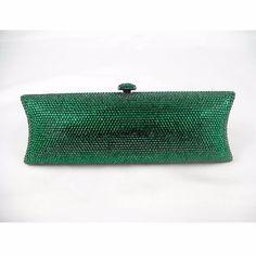 79.00$  Buy here - http://alidsc.worldwells.pw/go.php?t=1168657480 - 7735 Emerald green Crystal Lady fashion Bridal Night Metal Evening purse clutch bag case box handbag 79.00$