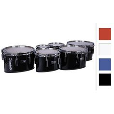 """Dynasty Marching Tenor Drums Sextet Red 6"""",6"""",10"""",12"""",13"""",14"""""""