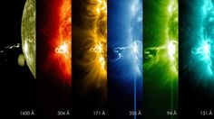 First Moments of a Solar Flare in Different Wavelengths of Light On Feb. 24, 2014, the sun emitted a significant solar flare, peaking at 7:49 p.m. EST. NASA's Solar Dynamics Observatory (SDO), which keeps a constant watch on the sun, captured images of the event. http://www.nasa.gov/content/first-moments-of-a-solar-flare-in-different-wavelengths-of-light/#.UyxAFvldWB0