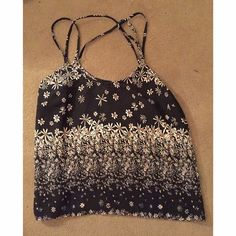 Sunflower top! Straps cross in the back! Tops Camisoles